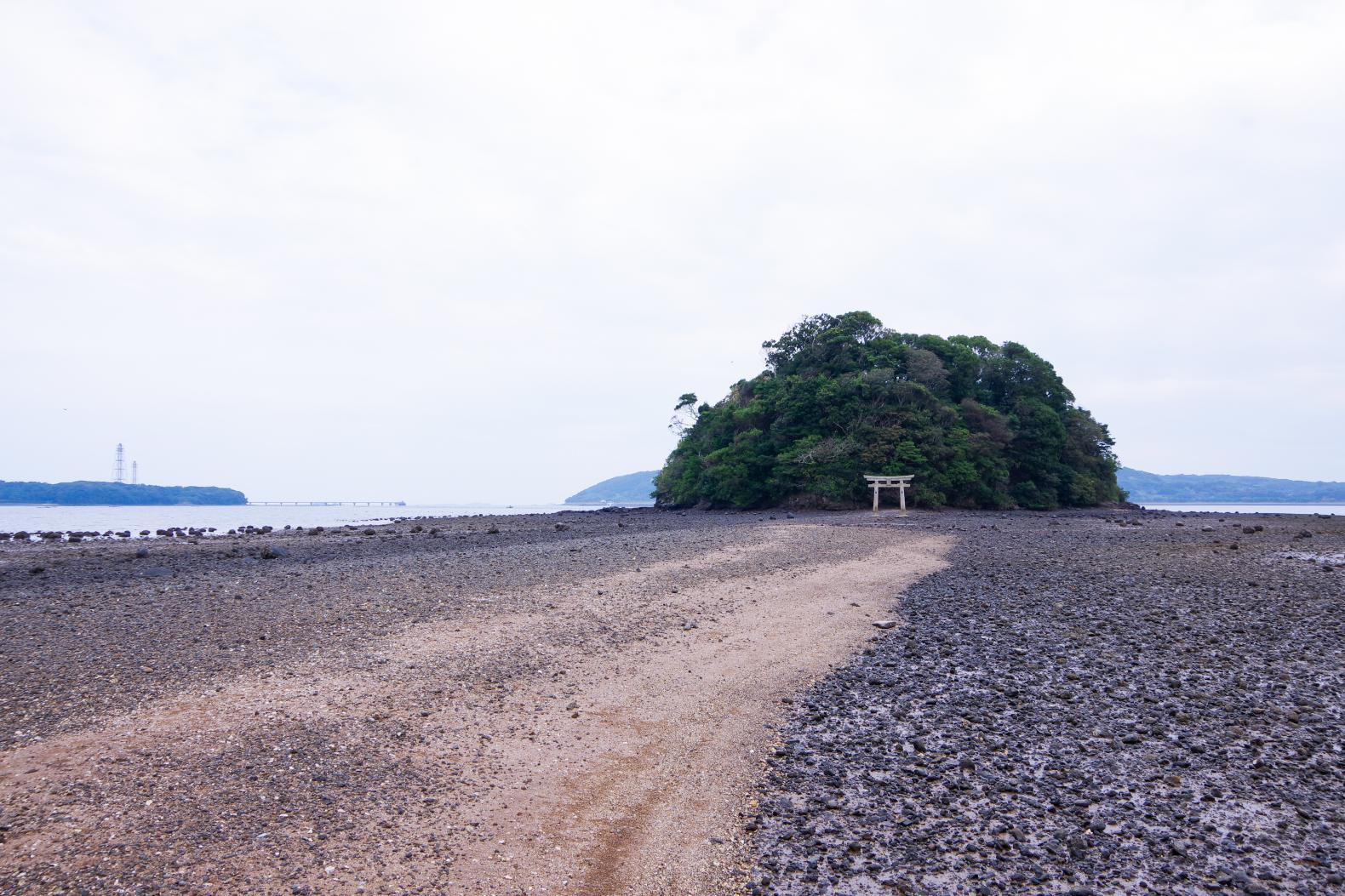 海から参道が現れる「小島神社」は、人気のパワースポット!-3