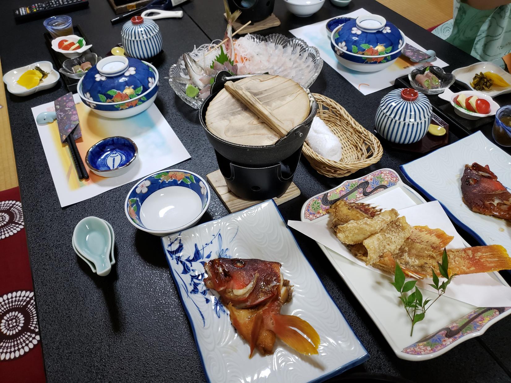 釣った魚で豪華なディナーを!-1