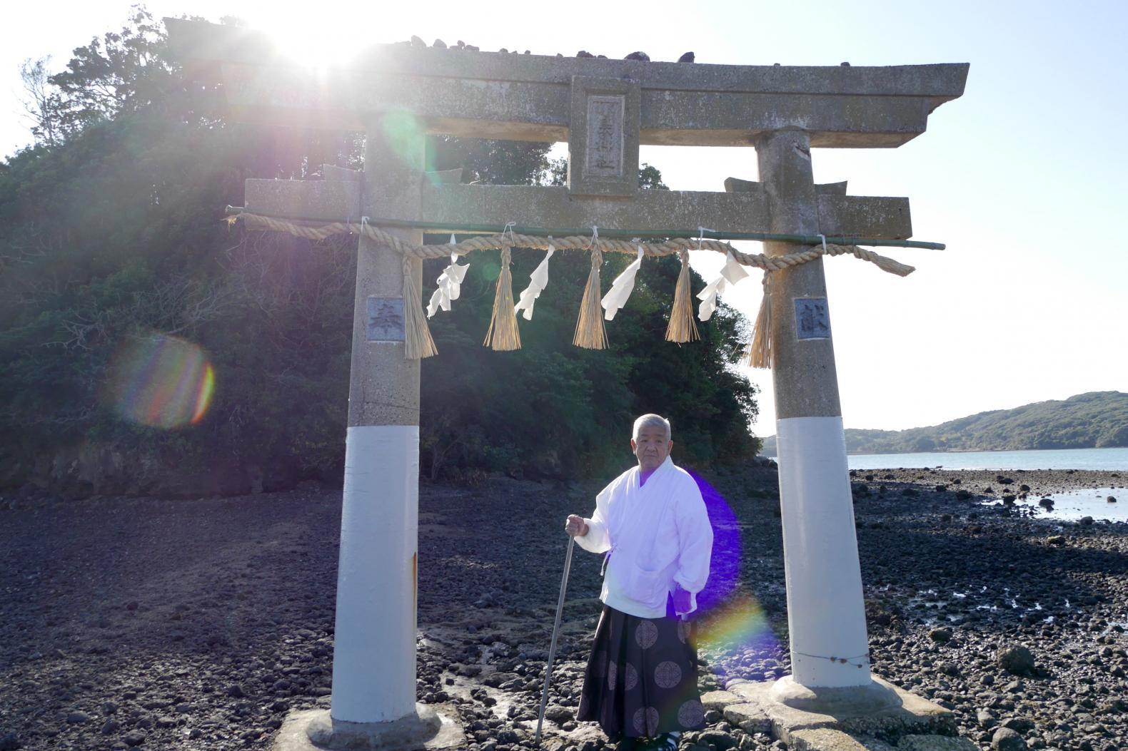 宮司と行く小島神社参拝プラン-1