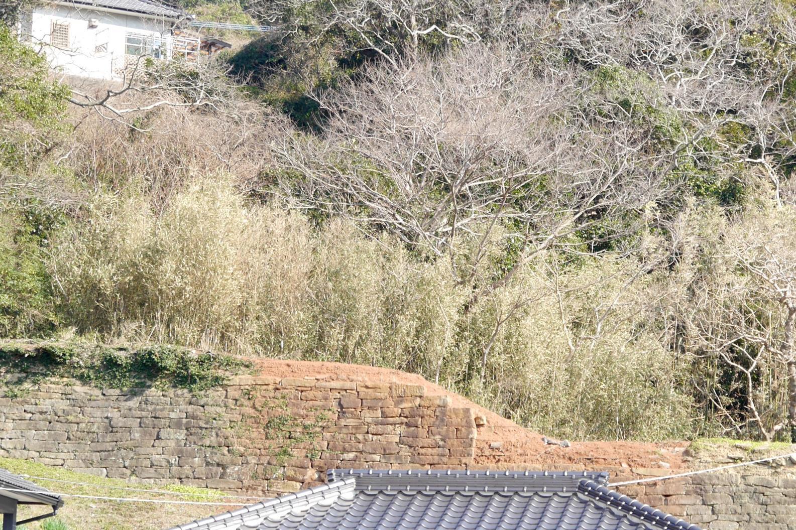 大石塀(通称:阿房塀)とお茶屋屋敷跡-1