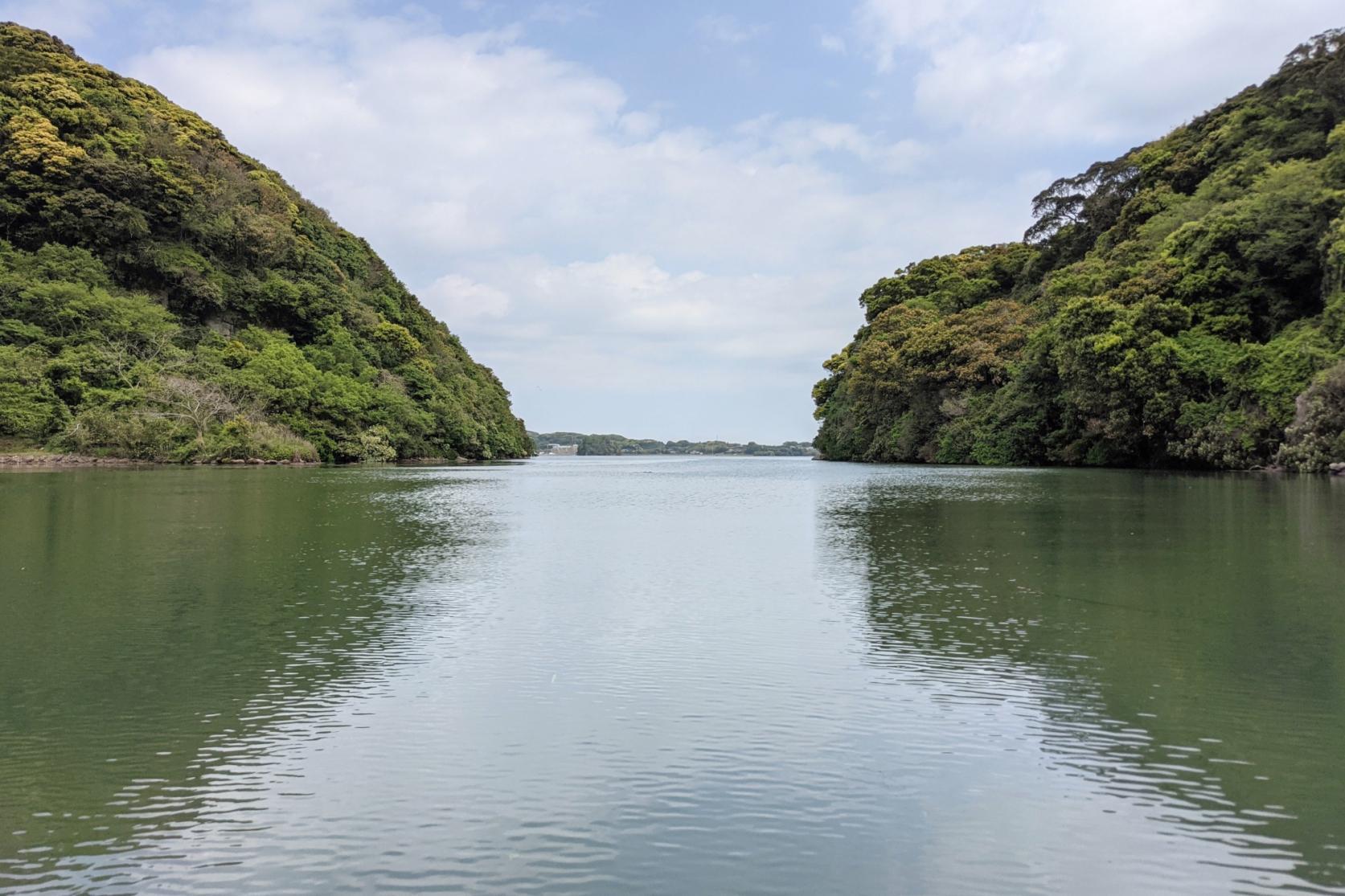 古代人も通った幡鉾川をさかのぼる-0