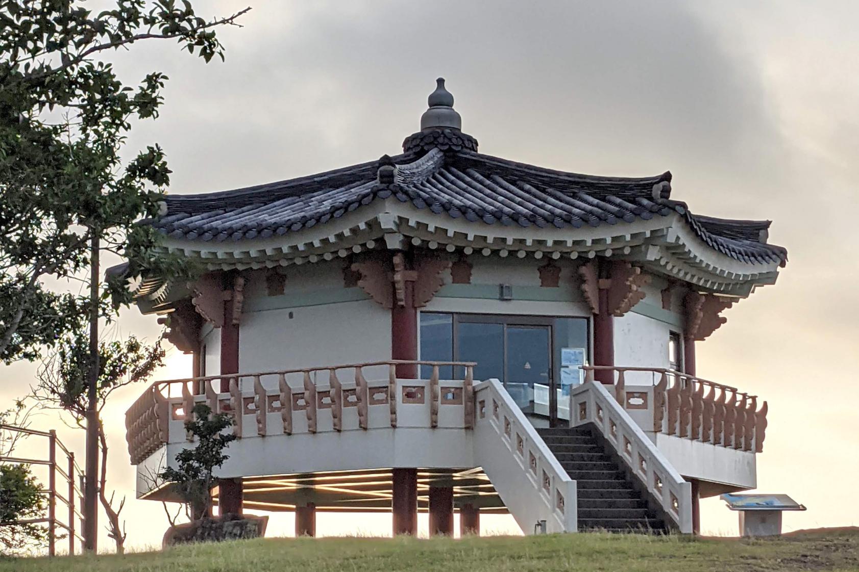 韓国展望所~豊砲台跡~東横INN比田勝-2