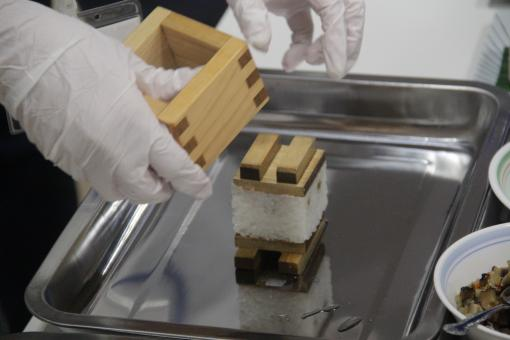 押し寿司作り体験-3